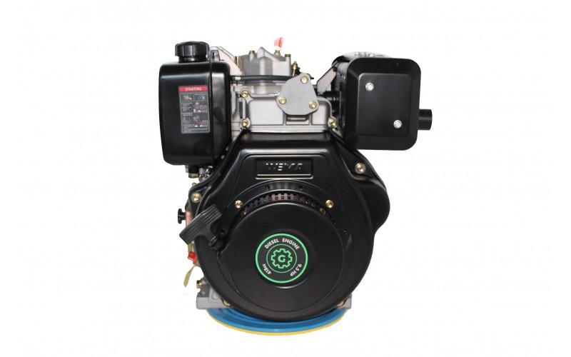 Дизельный Двигатель GW186FВ for1100 (вал ШЛИЦЫ), 418cc/диз 9,5л.с. Ручной стартер